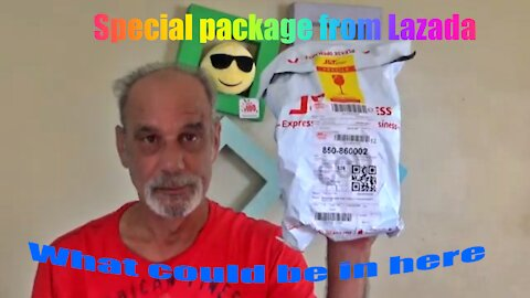Unboxing special package from lazada
