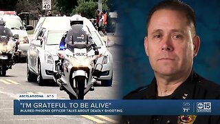 Injured Phoenix PD officer talks about deadly shooting that killed Commander Carnicle