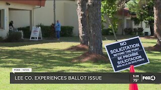 Voting issues at the polls in Lee County