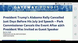 Alabama Trump Rally Cancelled...