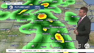 Metro Detroit Forecast: Afternoon showers and a few thunderstorms for Friday