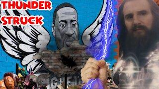 George Floyd Mural Destroyed After Being Struck By Lightning
