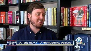 Voters react to presidential debate
