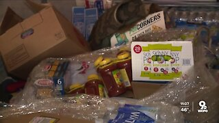 Firefighters collecting donations for Kentucky flood victims