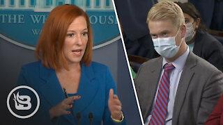 Psaki Gets Frazzled When Reporter Exposes Obama's Super-Spreader Event