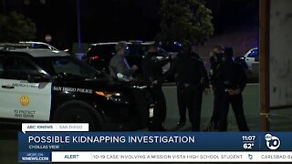 Possible kidnapping investigation