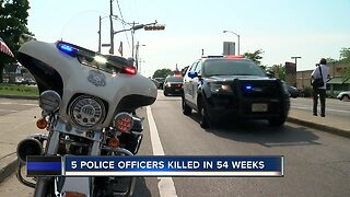 5 police officers killed in 54 weeks for Southeast Wisconsin
