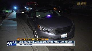Police: Drunk Lyft passengers raid ambulance, steal from rideshare driver