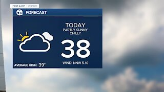 Metro Detroit Forecast: Chilly but partly sunny