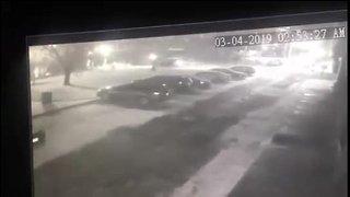 Surveillance video shows car driving into river