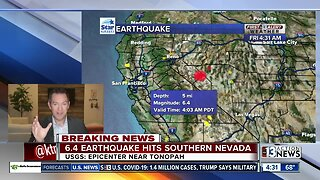 6.4 earthquake in Nevada