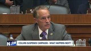 What happens now that Congressman Chris Collins has suspended his campaign?