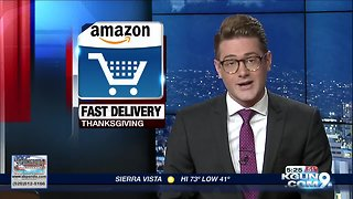 Amazon offering fast delivery this Thanksgiving