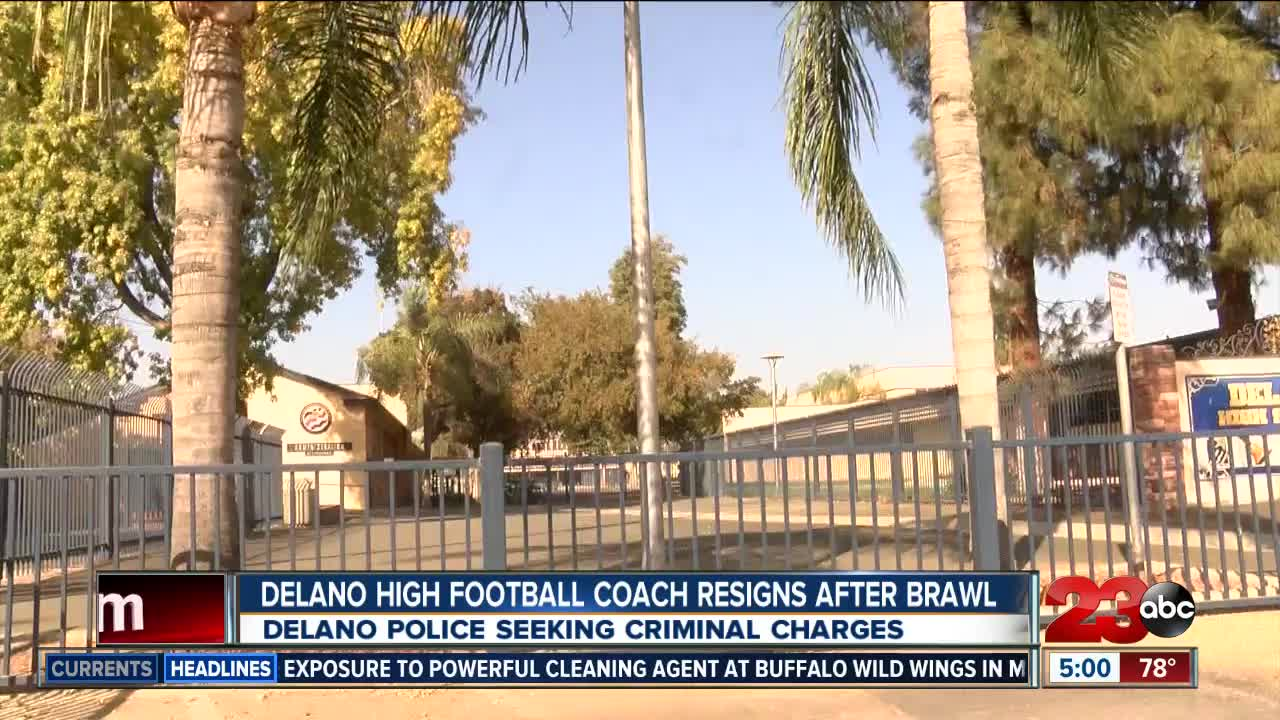 Delano High School football coach resigns following fight