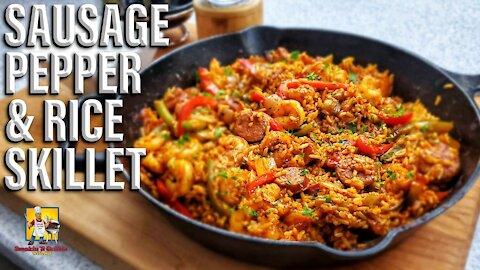 Sausage Pepper and Rice Skillet | Jambalaya Recipe?