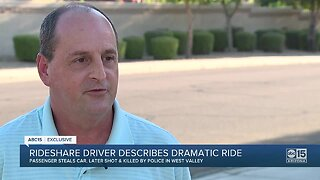Rideshare driver describes being carjacked