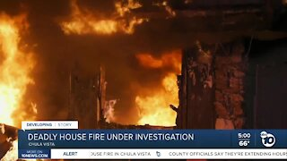 Deadly Chula Vista house fire under investigation