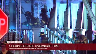 Four people evacuated from Burnham St. house fire