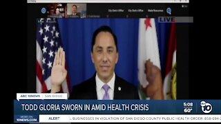 Gloria sworn in as mayor amid health crisis