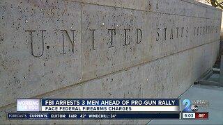Three arrested ahead of pro-gun rally