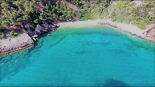Drone captures breathtaking secret beaches near Athens, Greece