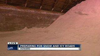 Salt storage with Brown County Public Works