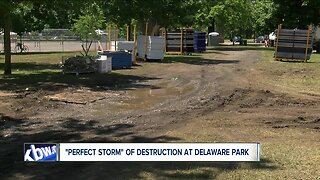 Delaware Park experienced unexpected damage after Corporate Challenge