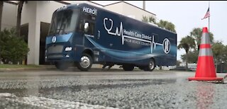 Palm Beach County leaders introduce 'Hero' mobile COVID-19 testing vehicle