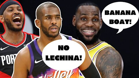 LEBRON JAMES trying to put together the BANANA BOAT?! Chris Paul & Carmelo Anthony Lakers Rumor?