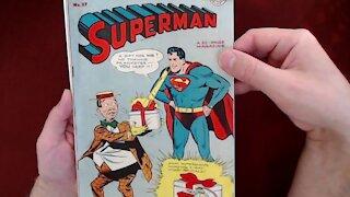 Reading Comic Books: Superman #37, 1945, DC Comics, Jerry Siegel, Joe Shuster [ASMR]