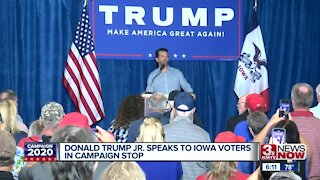 Donald Trump Jr. Speaks to Iowa Voters In Campaign Stop