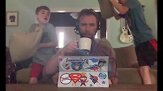 Dad hilariously documents what it's like to work from home during quarantine