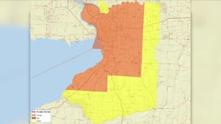 Why is Erie County still an Orange Zone?