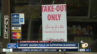 County officials look to help out local businesses affected by crisis