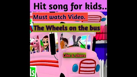 Wheels on the bus kids song