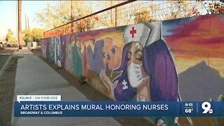 Local artist explains mural honoring nurses