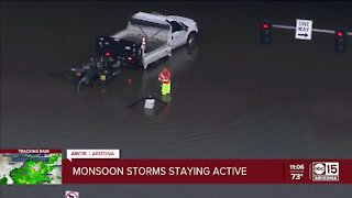 Flooded roads near I-17 and Greenway Road