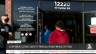 Continued COVID safety precuations while voting