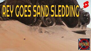 Rey Goes Sand Sledding