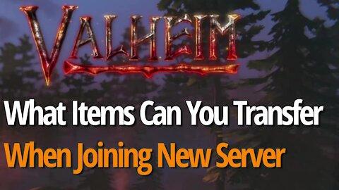 Transferring To New Server - Valheim