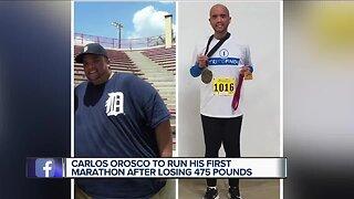 Metro Detroit man to run first marathon after losing 475 pounds