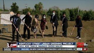 Officials break ground on the Kentucky Street Urban Greening Project