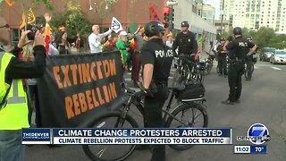 Five people arrested during climate change protest Monday in Denver