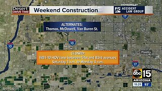 Weekend Travel Alert: I-10 will close for construction!