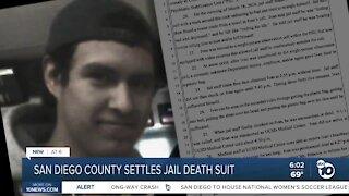 San Diego County settles jail death suit