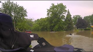 82-year-old rescued from floodwaters