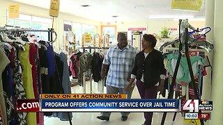 Program offers community service over jail time