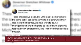Gov. Whitmer's police reform plan