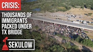 CRISIS: Thousands of Immigrants Packed Under TX Bridge