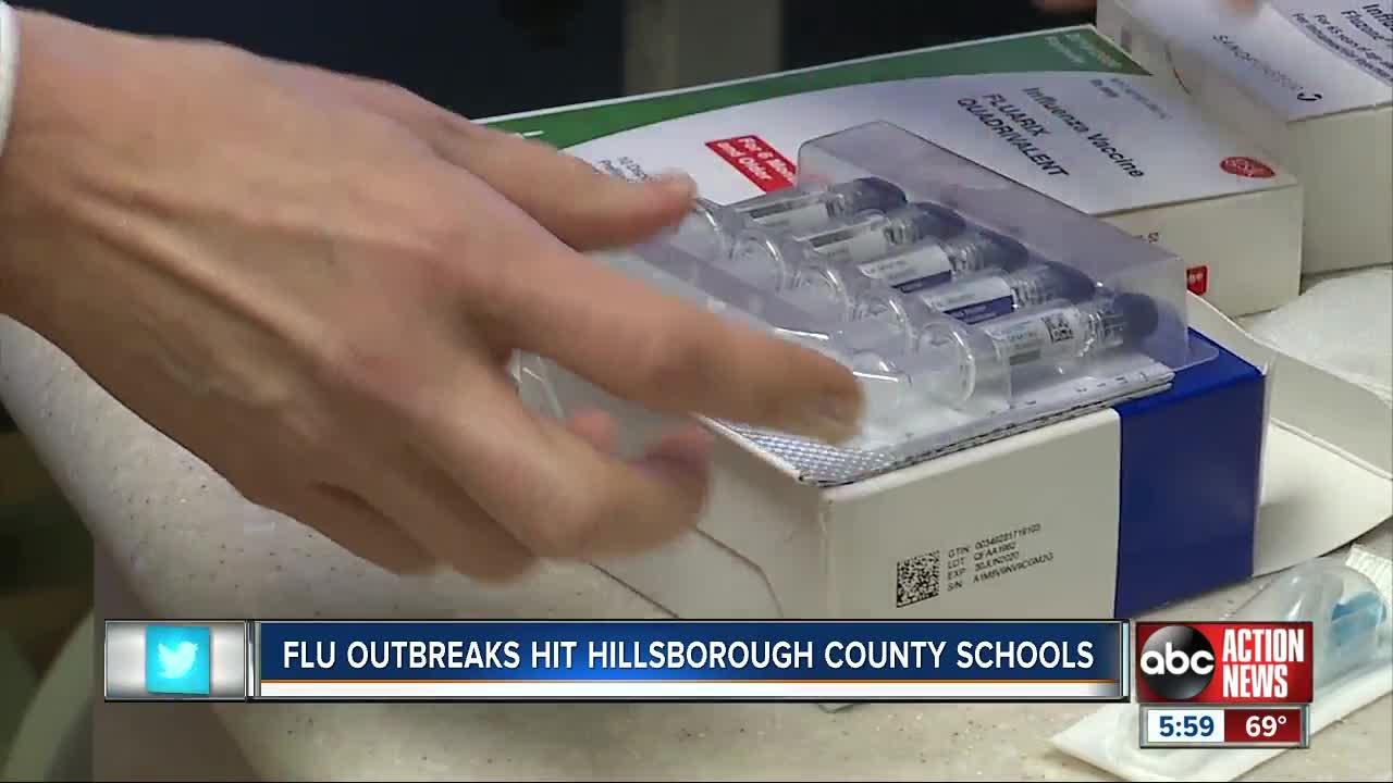 Flu outbreaks hit Hillsborough County Schools